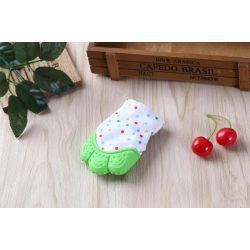 Unique Baby Fogzáskesztyű rágóka - Zöld