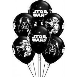 Star Wars gumi lufi fekete színben - 30 cm - 5db