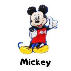 Óriás Mickey egér fólia lufi 48x80 cm