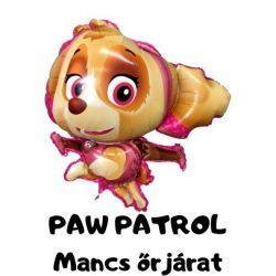 Óriás Paw Patrol-Mancs Őrjáratos fólia lufi 86x79cm - Skye