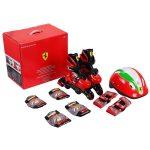 Chipolino Ferrari görkorcsolya + biztonsági szett 29-32 méret - piros