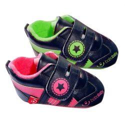BoboBaby tépőzáras cipő 12-18hó - fekete / pink