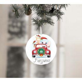 Egyedi névre szóló karácsonyfadísz