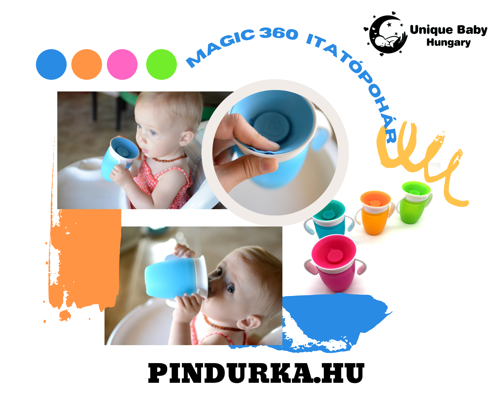 Unique Baby Magic 360 Itatópohár